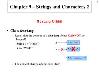 Chapter 9 – Strings and Characters 2