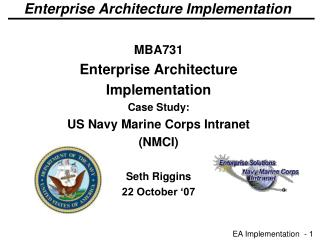 Enterprise Architecture Implementation
