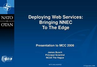 Deploying Web Services:  Bringing NNEC  To The Edge