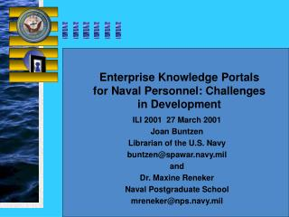 Enterprise Knowledge Portals for Naval Personnel: Challenges in Development