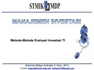Metode-Metode Evaluasi Investasi TI