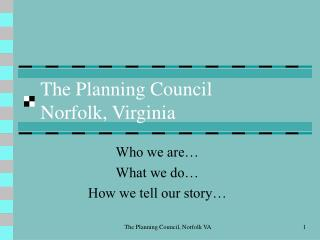 The Planning Council Norfolk, Virginia