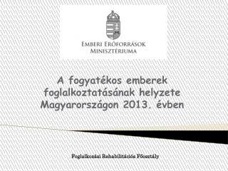 A fogyatékos emberek foglalkoztatásának helyzete Magyarországon 2013. évben