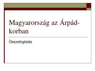 Magyarország az Árpád-korban