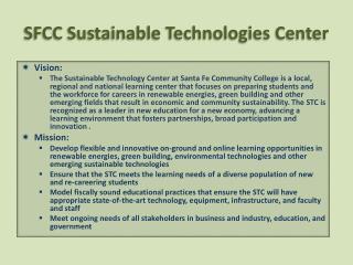 SFCC Sustainable Technologies Center