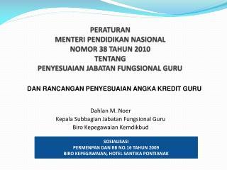 Dahlan M. Noer Kepala  Subbagian Jabatan Fungsional Guru Biro Kepegawaian Kemdik bud