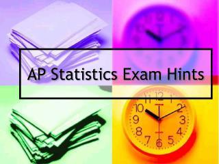 AP Statistics Exam Hints