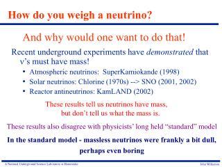 How do you weigh a neutrino?