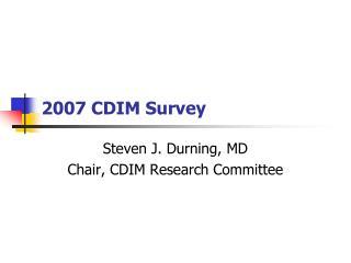 2007 CDIM Survey