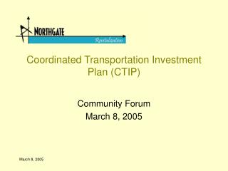 Coordinated Transportation Investment Plan CTIP
