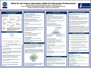 Skills for the Future: Informatics Skills for Information Professionals