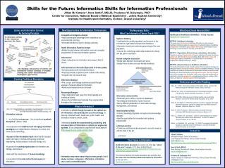 Skills for the Future: Informatics Skills for Information Professionals