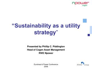 """Sustainability as a utility strategy """