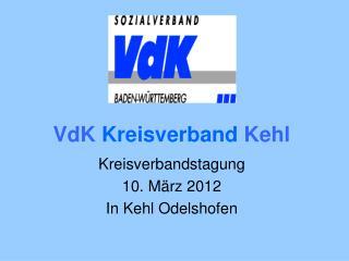 VdK  Kreisverband  Kehl