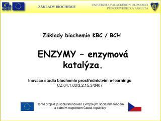 ENZYMY – enzymová katalýza.