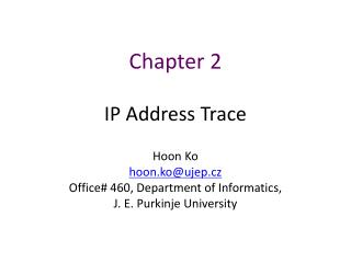 Chapter  2 IP Address Trace