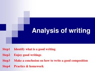 Analysis of writing