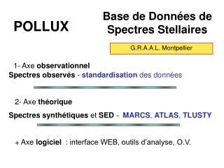 Base de Données de  Spectres Stellaires