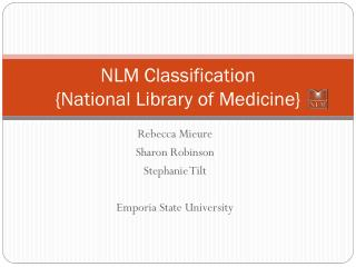 NLM Classification  {National Library of Medicine}