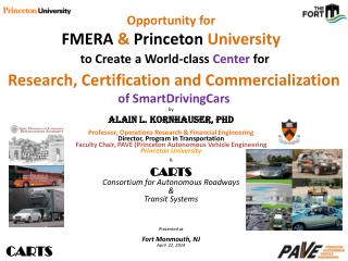 Opportunity for  FMERA  &  Princeton  University