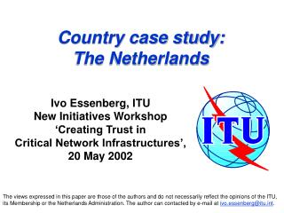 Country case study: The Netherlands