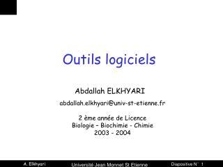 Outils logiciels