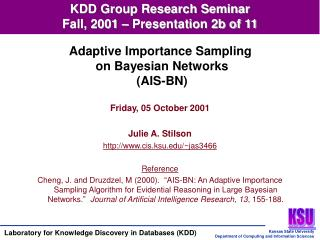 KDD Group Research Seminar Fall, 2001 – Presentation 2b of 11
