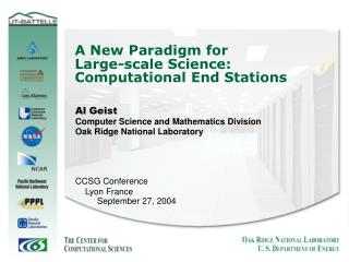A New Paradigm for  Large-scale Science: Computational End Stations