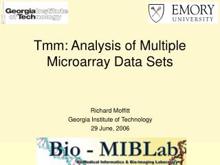 Tmm: Analysis of Multiple Microarray Data Sets