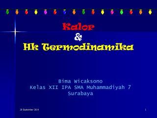 Kalor &  Hk  Termodinamika
