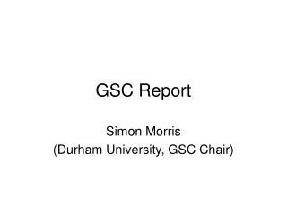 GSC Report