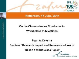 Rotterdam, 17 June, 2014