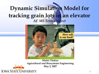 Dynamic Simulation Model for  tracking grain lots in an elevator AE 503 Term Project
