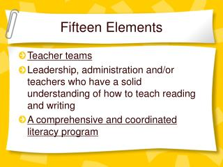 Fifteen Elements