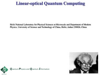 Linear-optical Quantum Computing