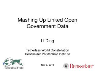 Mashing Up Linked Open Government Data