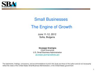 Small Businesses  The Engine of Growth