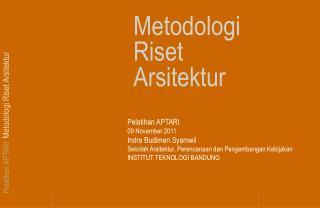 Metodologi Riset Arsitektur