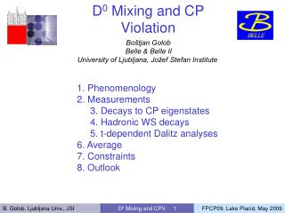 D 0  Mixing and CP Violation