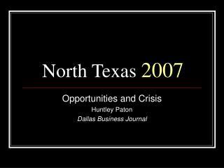 North Texas  2007