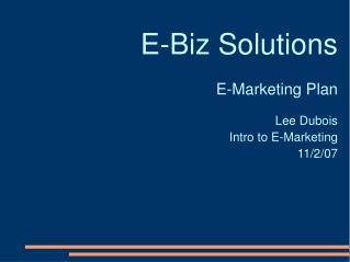 E-Biz Solutions