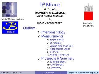 D 0  Mixing