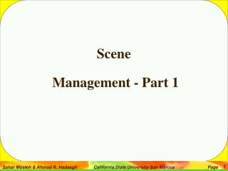 Scene  Management - Part 1