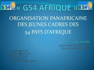 «G54 AFRIQUE»