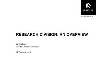 RESEARCH DIVISION: AN OVERVIEW