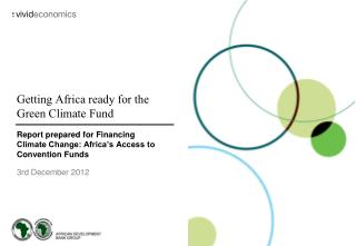 Getting Africa ready for the Green Climate Fund