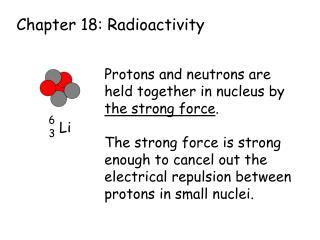Chapter 18: Radioactivity