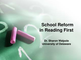 School Reform  in Reading First