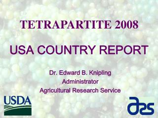 TETRAPARTITE 2008 USA COUNTRY REPORT