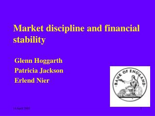 Market discipline and financial stability
